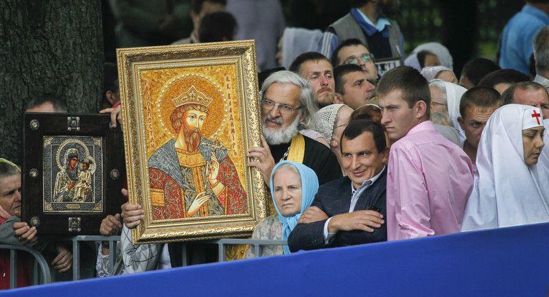 Молебен в честь Дня Крещения Руси на Владимирской горке