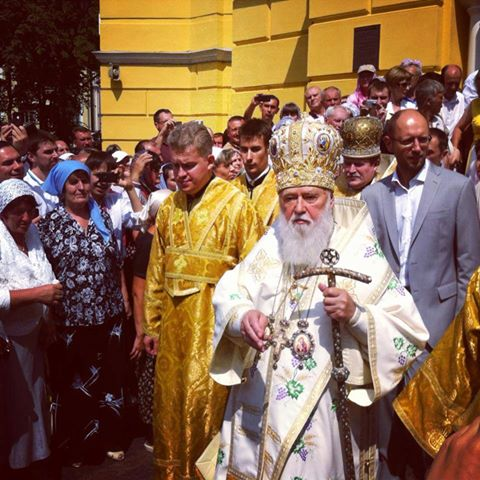 Филарет во время Крестного хода