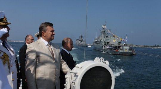 Янукович и Путин в Севастополе