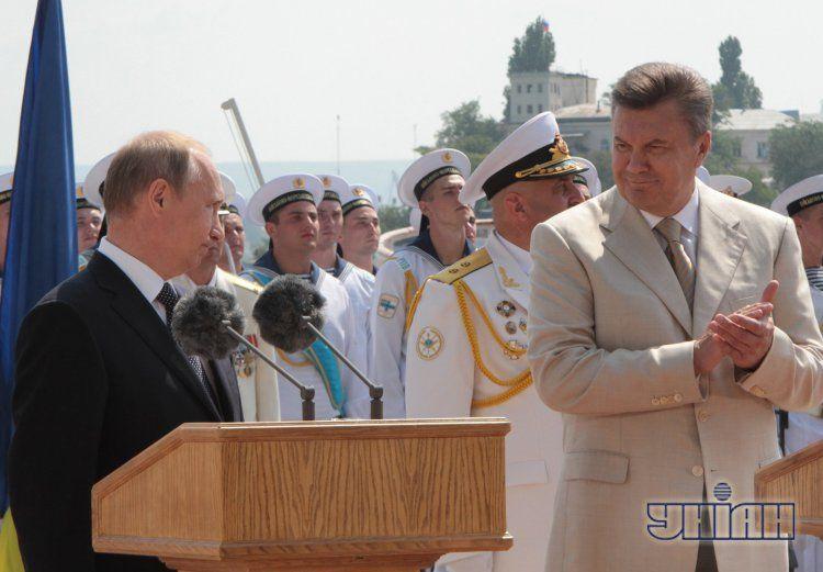 Владимир Путин и Виктор Янукович в Севастополе