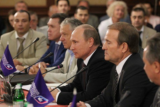 Владимир Путин во время последнего визита в Киев