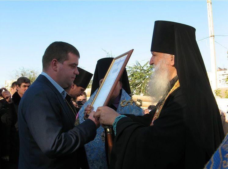 Евгений Анисимов и митрополит Запорожский Лука