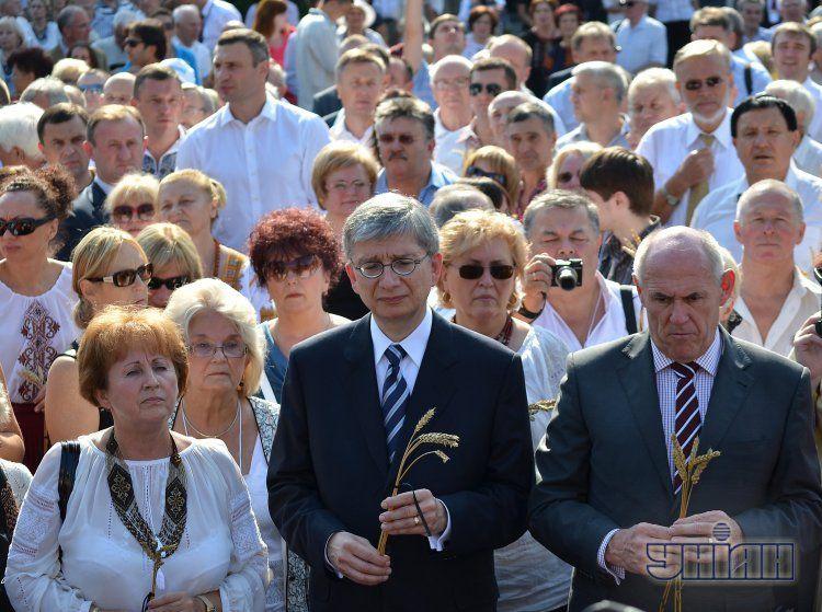 На Х Всемирном конгрессе украинцев.
