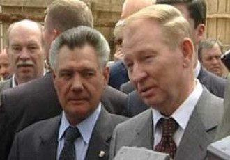 Президент Леонид Кучма и бывший городской голова Киева Александр Омельченко