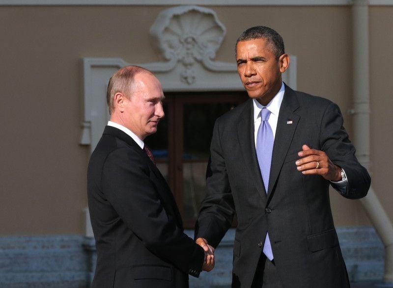 Встреча Путина с Обамой