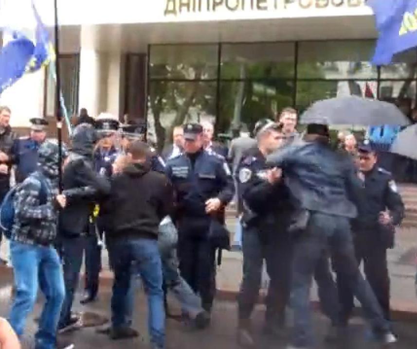 Активисты требовали защитить рыбака Федоровича от