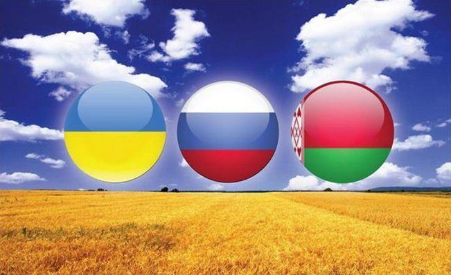 Флаги Украины, России и Беларуси, иллюстрация