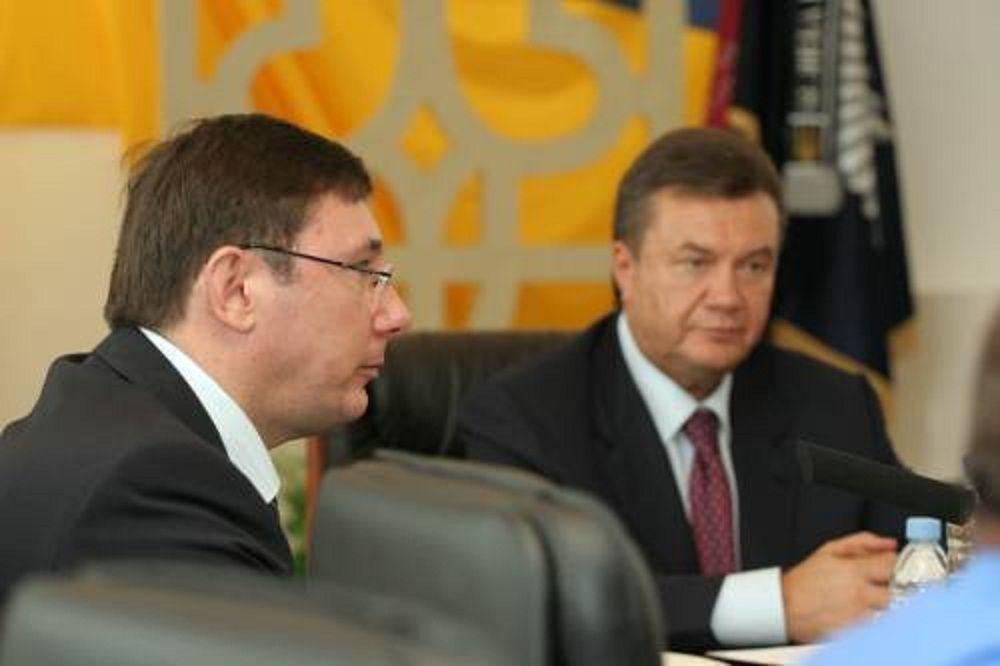 Виктор Янукович и Юрий Луценко