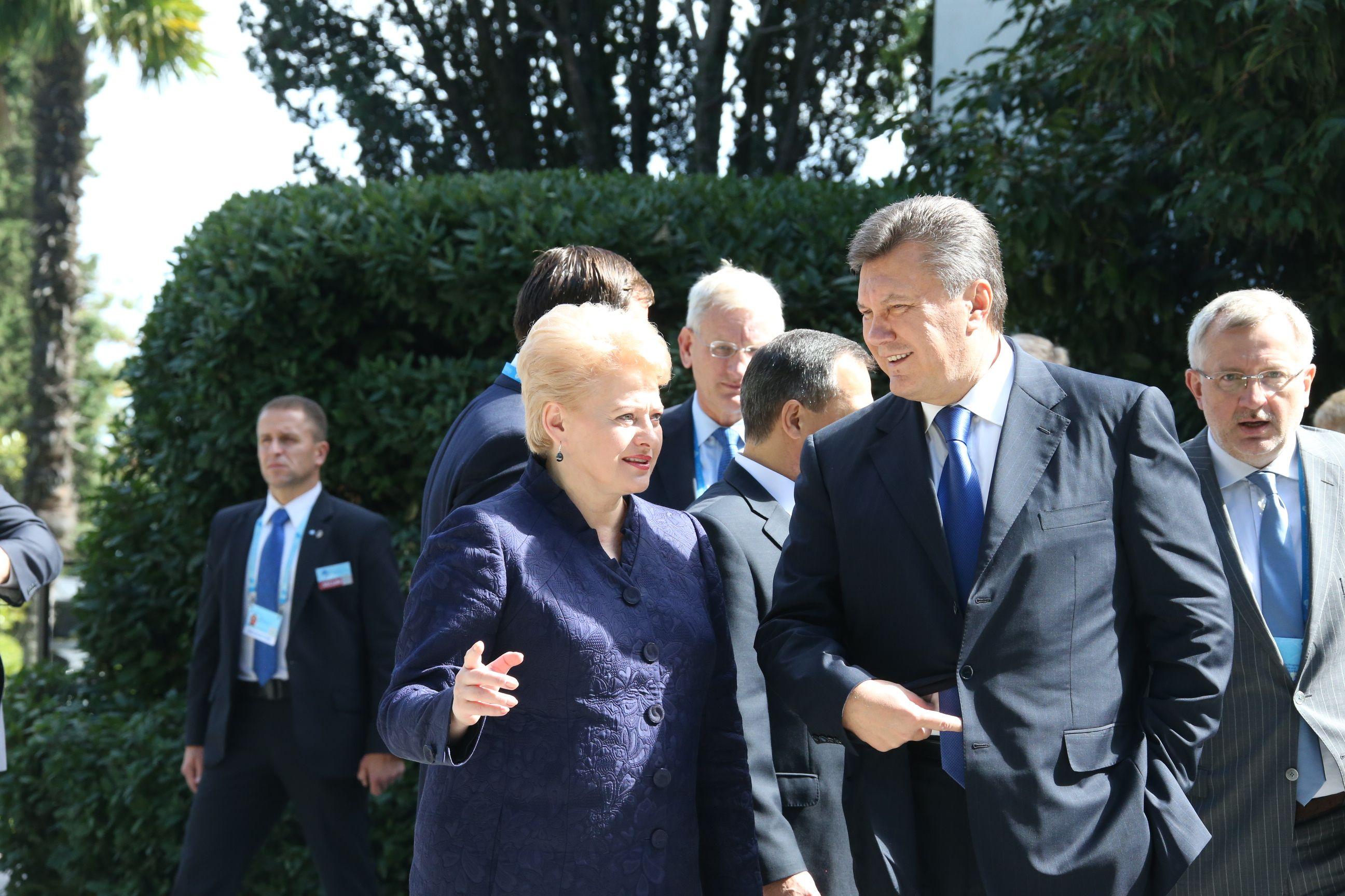 Даля Грибаускайте и Виктор Янукович