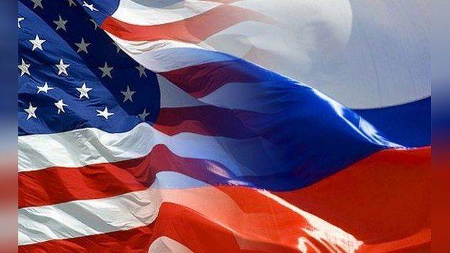 Флаги США и России, иллюстрация