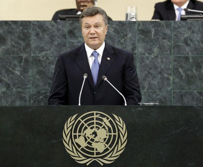 Выступление Виктора Януковича в Нью-Йорке