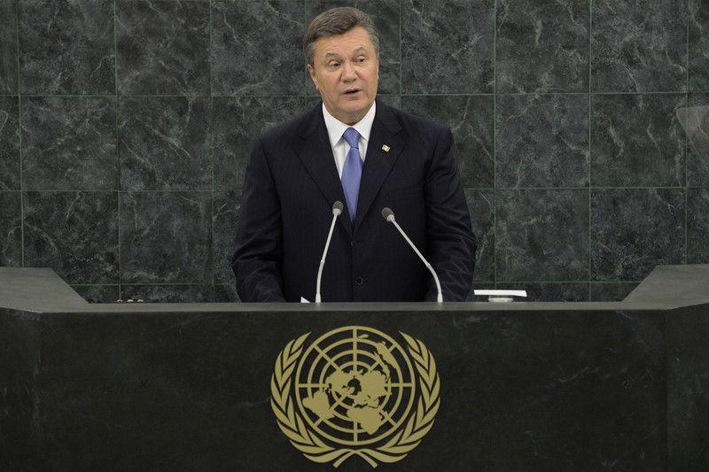 Выступление Януковича в ООН