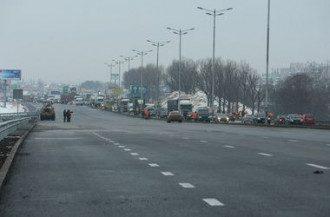 Сегодня кольцевая вокруг Киева выглядит так