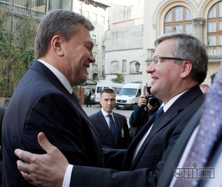 Янукович и Коморовский в Кракове