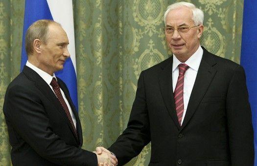 Президент России Владимир Путин и премьер Николай Азаров