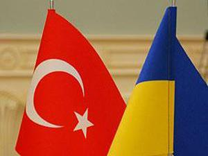 Флаги Турции и Украины, иллюстрация
