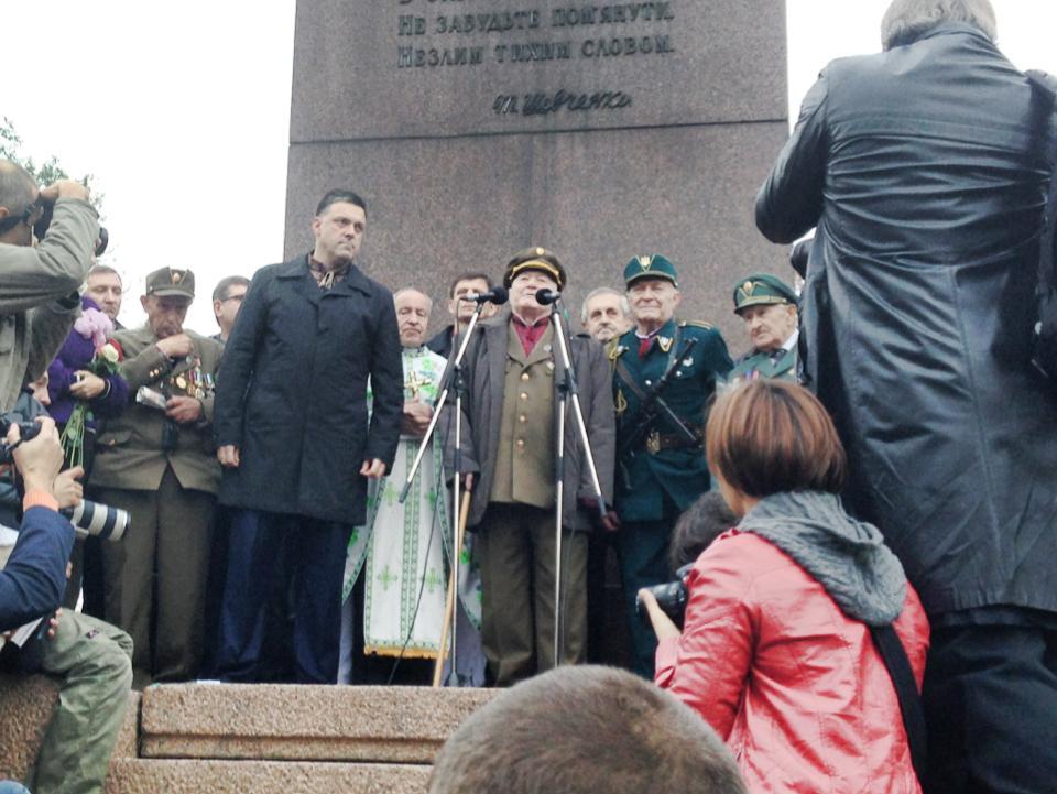 Олег Тягнибок на митинге в честь годовщины УПА