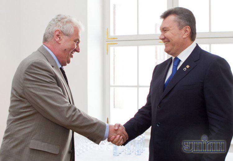 Милош Земан и Виктор Янукович