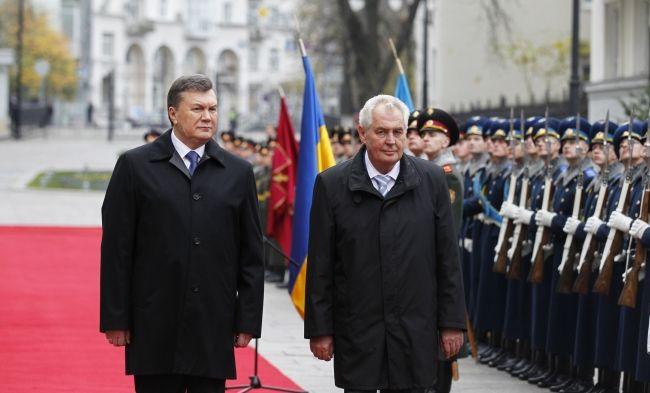 Виктор Янукович и президентом Чехии Милош Земан