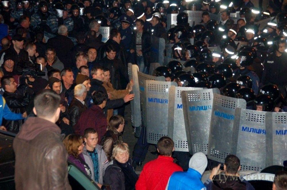 Штурм Одесского УМВД в ночь ареста Маркова