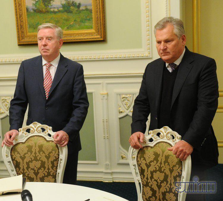Пэт Кокс и Алексангдр Квасьневский