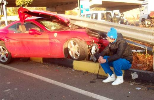 Авария Ferrari Милевского