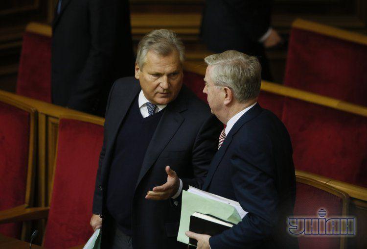 Кокс и Квасьневский на заседании Верховной Рады