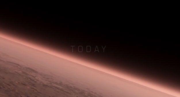 Поверхность Марса, иллюстрация