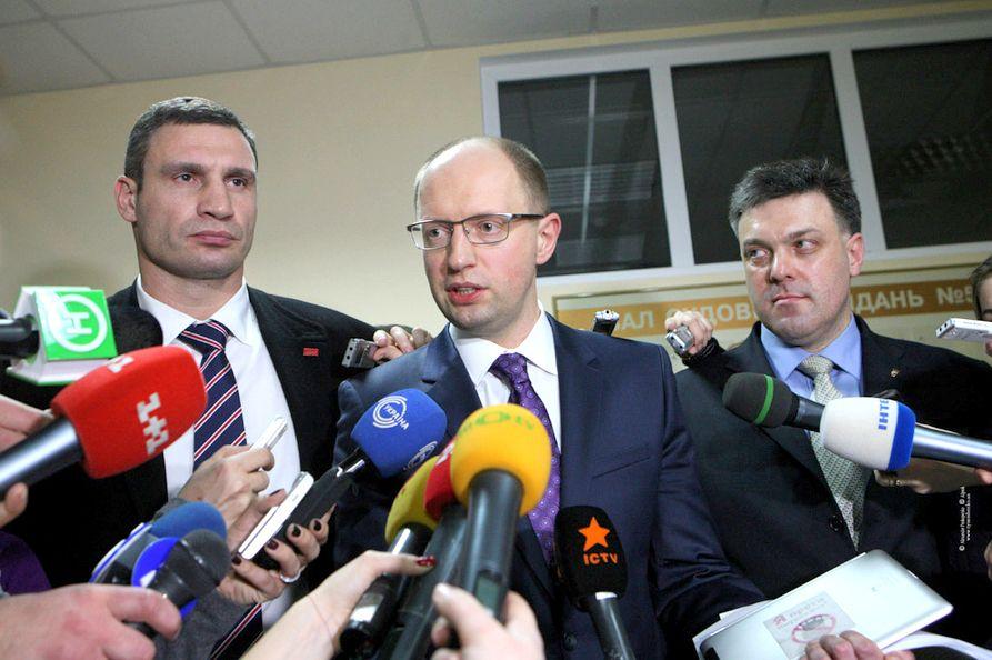 Кличко, Яценюк и Тягнибок