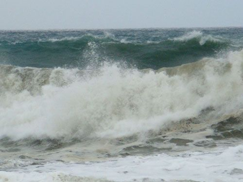 шторм, море