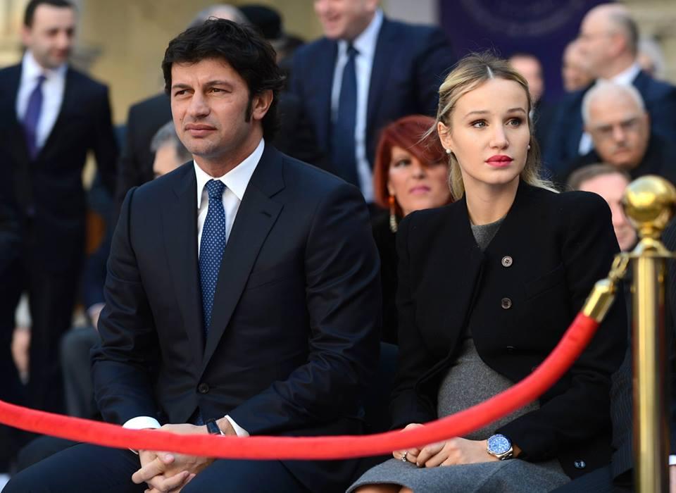 Каха Каладзе с супругой