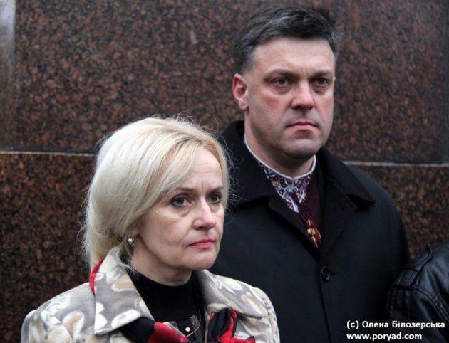 Ирина Фарион и Олег Тягнибок