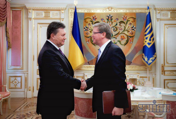 Штефан Фюле и Виктор Янукович