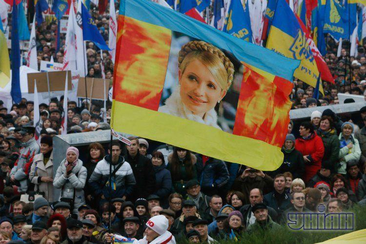Воскресный Евромайдан в Киеве