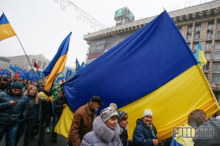 Евромайдан в Киеве собрал до 200 тысяч участников