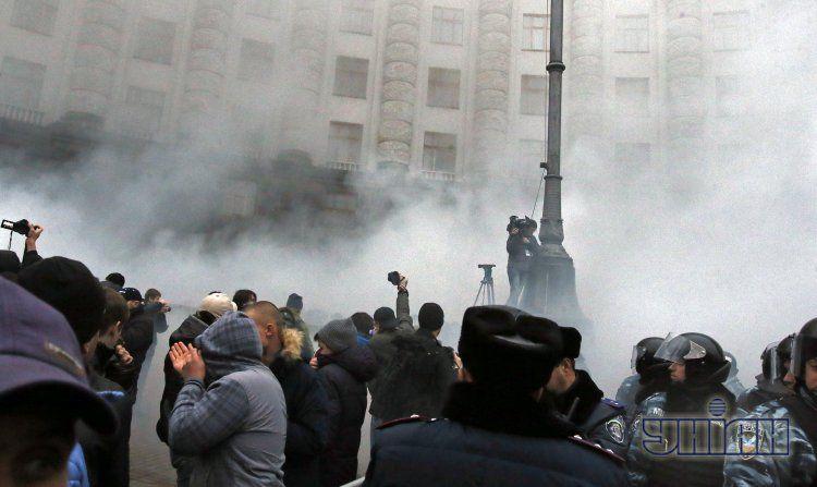 В воскресенье на Евромайдане уже были стычки