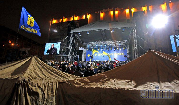 Сцена на Европейской площади в Киеве