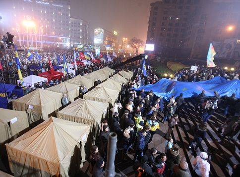 Ночь на Евромайдане
