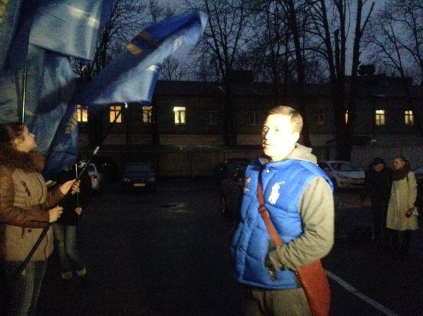Николай Катеринчук на пикете