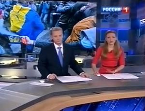 Российское ТВ продолжает истерить по поводу Украины