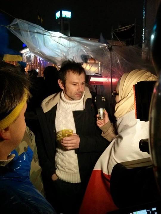 Святослав Вакарчук на Евромайдане