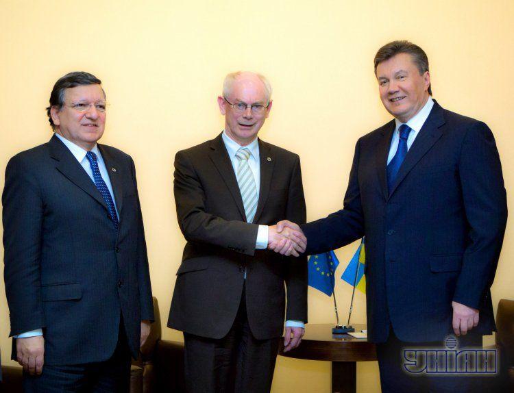 Встреча Виктора Януковича и лидеров ЕС