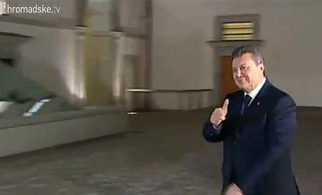 Прибытие Януковича в Вильнюс