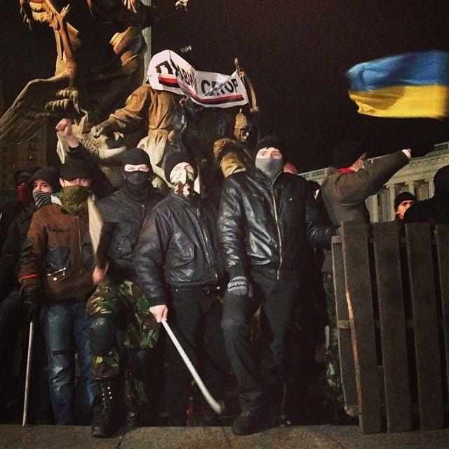 Разгон Евромайдана, иллюстрация