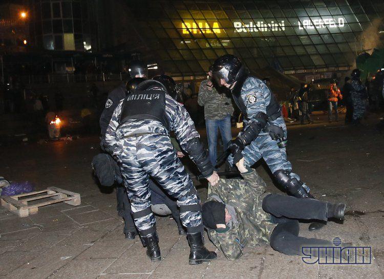 Разгон Евромайдана в Киеве