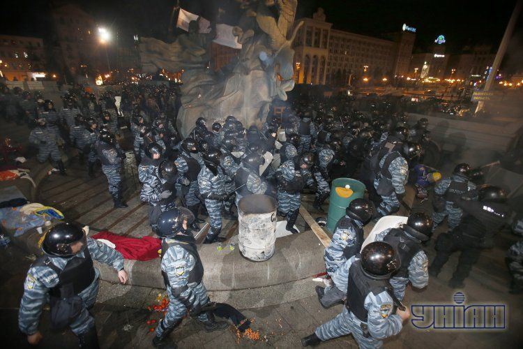 Фото с разгона Евромайдана