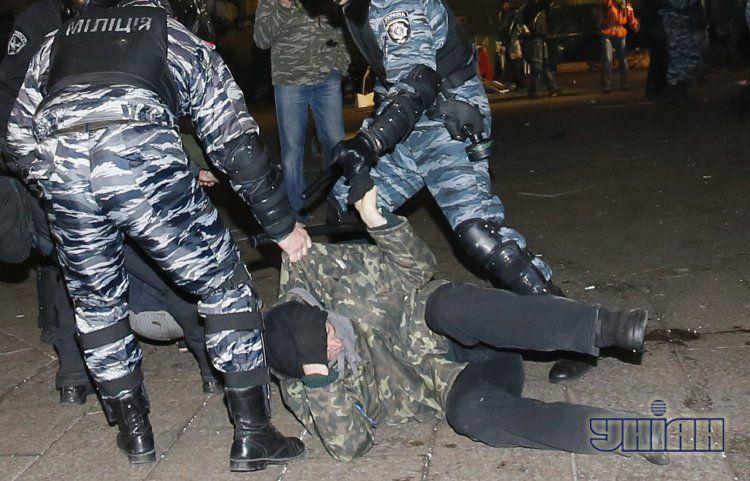 Разгон Евромайдана 30 ноября, фото с места событий