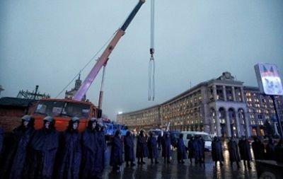 Майдан Независимоти в центре Киева