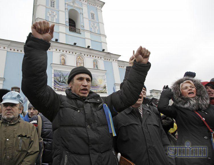 На Михайловской площади - 40 тысяч человек