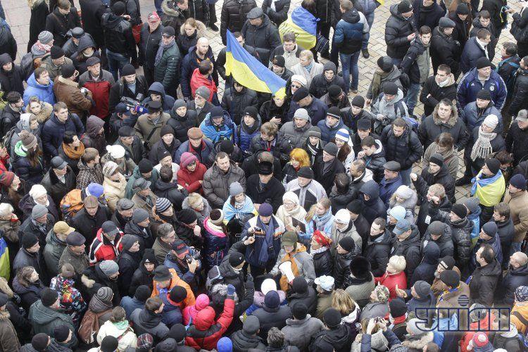 Акция протеста на Михайловской площади